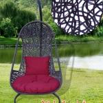 Ghế xích đu phẳng đan rối 3 cọng đen KH22