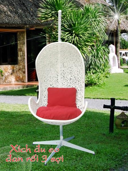 Phong cách mới lạ cùng ghế xích đu E0 đan rối sợi